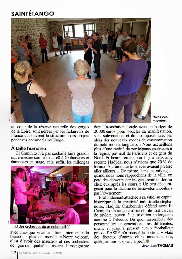 Article de La Salida avril-mai 2020, page 22