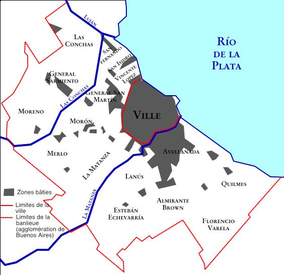 La banlieue (orillas) de Buenos Aires